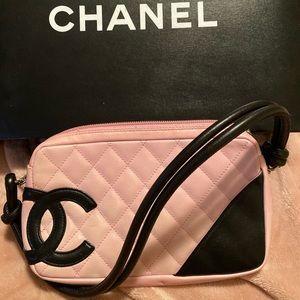Chanel pink shoulder bag authentic